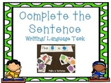 Complete the Sentence Writing/ Language Tasks