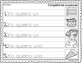 Complete the Sentence in Spanish