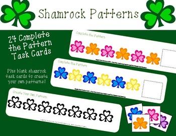 Complete the Shamrock Pattern ~ Task Cards