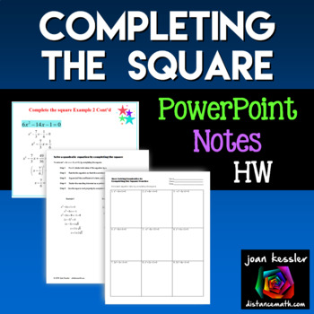 Algebra Completing the Square