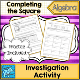 Complete the Square Investigation