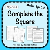 Complete the Square Activity FREE: Math Sprints