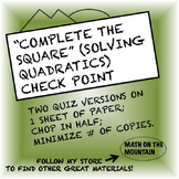 """Complete the Square"" (Solving Quadratics)"