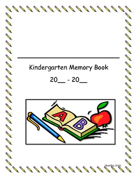 Complete the Year:  Kindergarten Memory Book