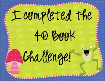 Completed 40 Book Challenge Graphic