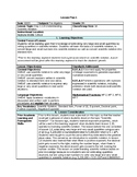 Completed Middle School Math EDTPA Lesson Plans
