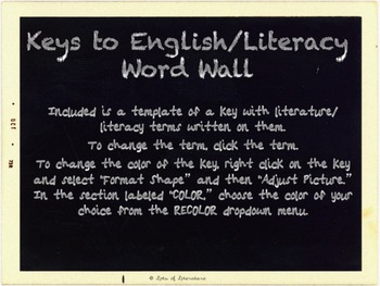 Completely Customizable Interactive Word Wall Posters: Keys to English