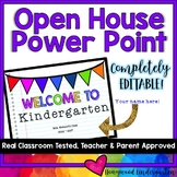 Completely EDITABLE Open House Powerpoint Presentation or Parent Packet