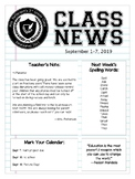 Completely Editable Class Newsletter PowerPoint Template—C
