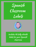Spanish Classroom Labels
