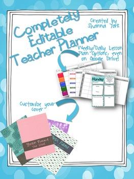 Completely Editable Teacher Planner/Binder - Plan on Power