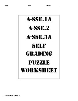 Completely Factor Worksheet ( A-SSE.1a A-SSE.2 A-SSE.3a )