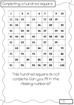 Completing A Hundred Square