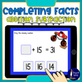Completing Addition and Subtraction Facts BOOM Cards