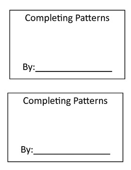 Completing Patterns Book Printable