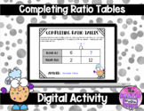 Completing Ratio Tables 1 and 2 Step in Google™ Classroom