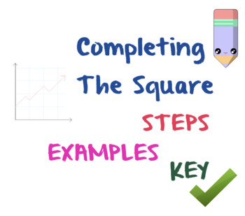 Completing The Square Worksheet by Profe Blanco Math Store | TpT