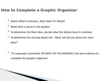 Completing a Graphic Organizer PowerPoint
