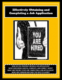 JOB APPLICATION, EMPLOYMENT APPLICATION, Careers Readiness, Vocational