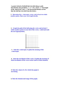 Completing the Square (A.REI.4a, F.IF.1, F.IF.4)