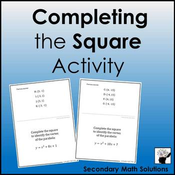 Completing the Square Activity (Amazing Race)