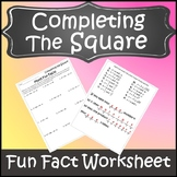 Completing the Square Activity {Completing the Square Worksheet}