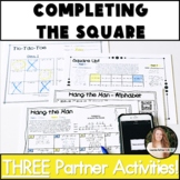 Completing the Square Activity! Partner Pack!