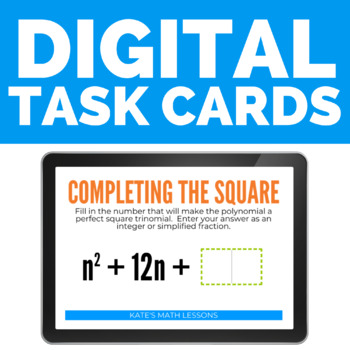 Completing the Square Boom Cards (digital task cards)
