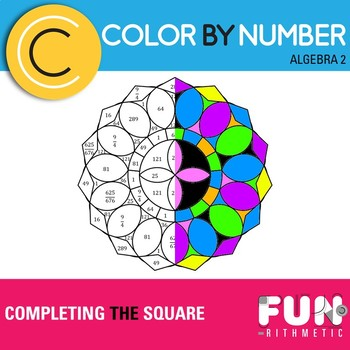 Completing the Square Color by Number
