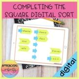 Completing the Square Digital Sort for Google Slides