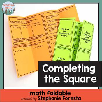 Completing the Square Foldable