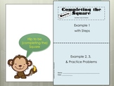 Completing the Square Foldable for Interactive Notebooks