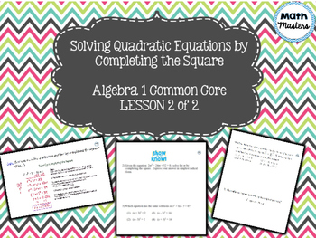 Completing the Square Lesson 2 of 2