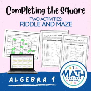 Completing the Square: Line Puzzle Activity