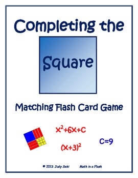 Completing the Square Matching Flash Card Game