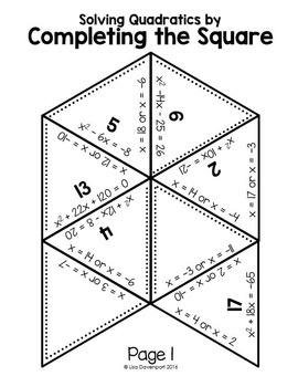 Completing the Square (PUZZLE)