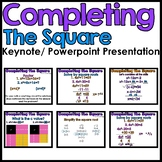 Completing the Square Powerpoint/Keynote Presentation