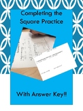 Completing the Square Practice Worksheet