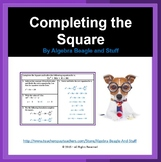 Completing the Square Scaffold Notes