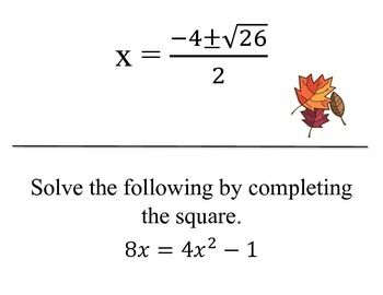 Completing the Square Scavenger Hunt