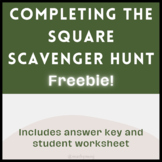 Completing the Square Scavenger Hunt *FREEBIE*
