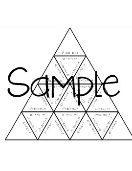 Completing the Square Tarsia Puzzles