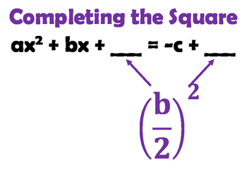 Completing the Square Word Wall