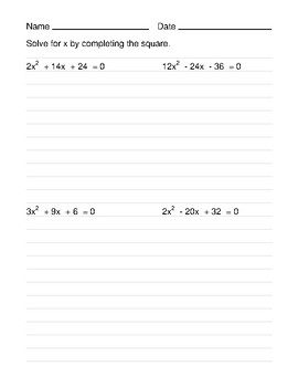 18  math 154b solving using the quadratic worksheet answers together with pleting The Square Worksheet Alge 2 Math Square Root in addition pleting the Square Worksheet New Quadratic Equation Questions by also Clayton Valley Charter High likewise Solving Equations By  pleting The Square Worksheet Math Quadratic also plete The Square Worksheets Math Maths Worksheets Math  pleting as well Solving Equations By  pleting The Square Worksheet Math Converting also Quadratic Equation Questions By  pleting the Square Worksheet by additionally  also pleting The Square And Quadratic Worksheet The best additionally Solving Quadratic Equations By  pleting the Square   Math Aids likewise Solving Quadratic Equations By  pleting The Square Worksheet The likewise Solving Quadratic Equations By  pleting The Square Worksheet besides  together with pleting the Square to Find Turning Points Worksheet   Worksheet moreover pleting the Square Worksheet Bundle by Media4Math   TpT. on worksheet on completing the square