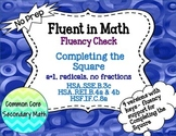 Completing the Square a=1 + Radicals Fluency Check : No Prep Fluent in Math