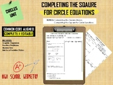Completing the Square for Circle Equations - Graphic Organizer