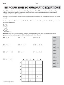 Completing the Square to Solve Quadratic Equations (CCSS H