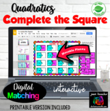 Completing the Square with GOOGLE™ Slides for Quadratics
