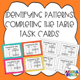 Completing the Input-Output Table Task Cards