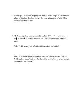 Complex Area & Perimeter Word Problems